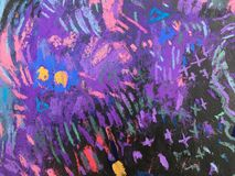 Texture d'impressionisme, fond vibrant de couleur, papier peint de peinture impressionniste d'art image stock