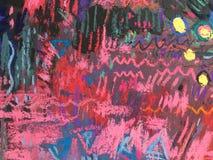 Texture d'impressionisme, fond vibrant de couleur, papier peint de peinture impressionniste d'art photo stock
