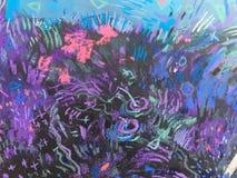 Texture d'impressionisme, fond vibrant de couleur, papier peint de peinture impressionniste d'art images libres de droits