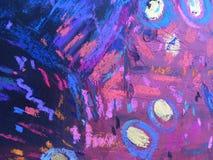 Texture d'impressionisme, fond vibrant de couleur, papier peint de peinture impressionniste d'art photographie stock