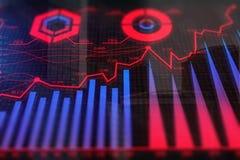 Texture d'investissement et de finances Photos libres de droits