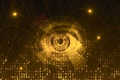 Texture d'oeil de Digital Photographie stock libre de droits