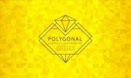 Texture d'or polygonale de fond de résumé, donnée une consistance rugueuse d'or, milieux de polygone de bannière, illustration de illustration de vecteur