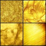 Texture d'or réglée. Photographie stock
