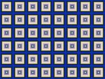 Texture 3D sans couture Modèle géométrique des places bleues Images stock