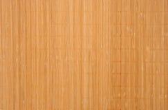 Texture d'un couvre-tapis en bambou Photos stock