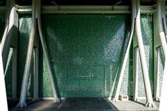 Texture d'un lieu public - stade avec la structure conçue de mur Images libres de droits