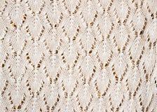 Texture d'un morceau de tissu de knit Images stock