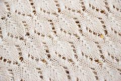Texture d'un morceau de tissu de knit Image stock