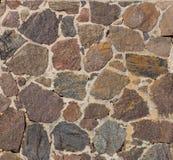 Texture d'un mur avec les pavés ronds et le mortier Photo libre de droits