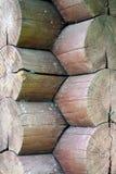 Texture d'un mur de rondin Photographie stock libre de droits