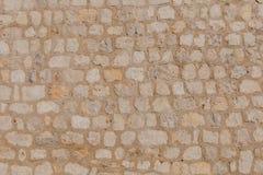 Texture d'un mur en pierre Vieille texture de mur en pierre de château images stock