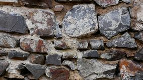 Texture d'un mur en pierre Vieux fond de texture de mur en pierre de château Mur en pierre comme fond ou texture Une partie d'a clips vidéos