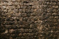 Texture d'un mur en pierre Vieux fond de texture de mur en pierre de château Mur en pierre comme fond ou texture Une partie d'un  photos libres de droits
