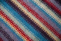 Texture d'un rayé de laine tricoté Photo libre de droits