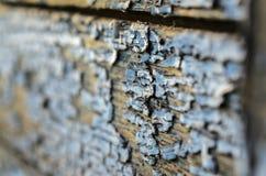 Texture d'un vieux conseil en bois avec la peinture d'épluchage Photo stock