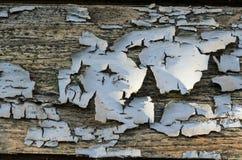 Texture d'un vieux conseil en bois avec la peinture d'épluchage Image stock