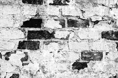 Texture d'un vieux mur de briques Images libres de droits