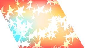 Texture d'une belle des étoiles galactiques bariolées lumineuses multicolores magiques cosmiques coupure polygonale de fête color illustration stock
