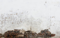 Texture of damaged brick wall Stock Images