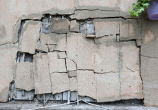 Texture of damaged concrete wall. As background royalty free stock photography