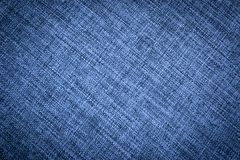 Texture of Dark Blue Canvas Fabric. Seamless dark blue canvas textile fabric texture in natural color for web background, backdrop, banner, template or poster stock illustration