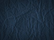 Texture of dark blue crumpled craft paper. Texture for design, abstract background stock photos