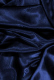 texture of a dark blue silk Stock Image