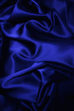 Texture of a dark blue silk Stock Photos