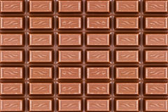 Texture of dark brown chocolate bar Stock Photography
