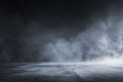 Texture dark concrete floor. With mist or fog Royalty Free Stock Image