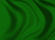 Texture of a dark green silk royalty free stock images