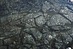 Texture of dark  ice Stock Photos