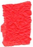 Dark Pink Fiber Paper - Crumpled with Torn Edges Stock Photo