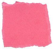 Pink Fiber Paper - Torn Edges Stock Photo