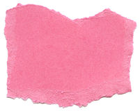 Pink Fiber Paper - Torn Edges Royalty Free Stock Image