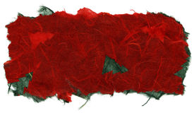 Isolated Rice Paper Texture - Christmas Red XXXXL Royalty Free Stock Image