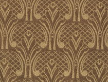 Texture of dark silk fabric with an oversized embroidered floral pattern. Royalty Free Stock Images