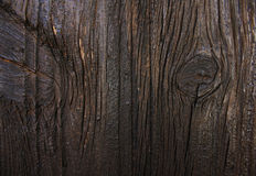 Texture of dark wooden door. Old door in cyprus village royalty free stock photos