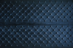Texture of dark wooden gate with metal strips chipped Royalty Free Stock Photography