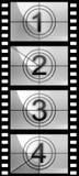 texture de bande de film de compte à rebours Photos libres de droits