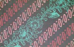 Texture de batik de couleur Photographie stock libre de droits