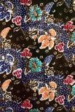 Texture de batik fabriquée en Malaisie Images libres de droits
