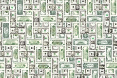 Texture de billets d'un dollar Photos stock