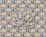 Texture de billets de banque du dollar Image stock