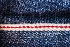 Texture de bleu de denim Image libre de droits