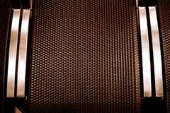 Texture de bloc carré de Brown avec le métal Images libres de droits