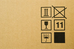Texture de boîte en carton Photographie stock