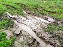 Texture de boue brune humide Photos libres de droits