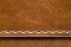 Texture de Brown de peau naturelle avec des coutures images libres de droits